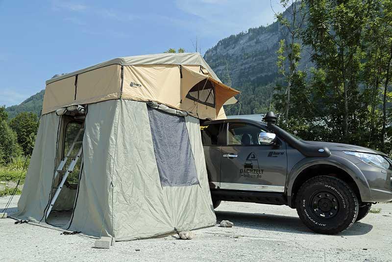 Campen mit einem Dachzelt in Deutschland