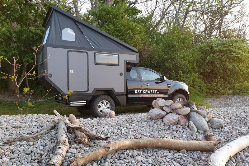 Mit einer Wohnkabine campen